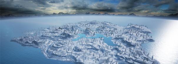 比照现版本的百人大地图,雪地地图增加了很多山丘地形与巨石掩体,草的覆盖率将大大减少,满屏都是高耸入云的松柏,傲骨峥嵘,庄重肃穆,带来更惊险与刺激的战斗气氛。