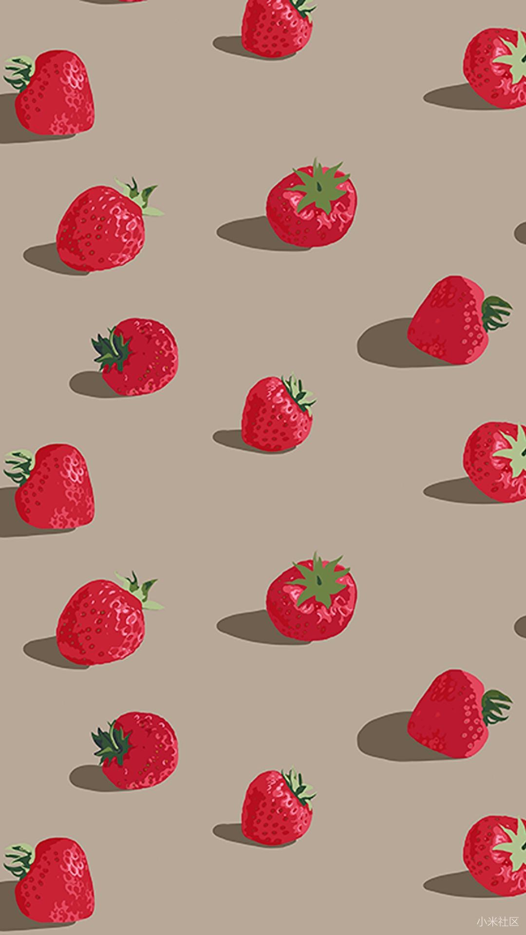 【壁纸分享】创意平铺水果小清新高清手机壁纸分享